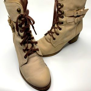 Anthropologie Boots Lace Up Holding Horses size 38